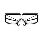 3d glazen geïsoleerd pictogram Royalty-vrije Stock Afbeeldingen