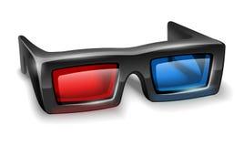 3d glazen voor het letten op stereofilms Royalty-vrije Stock Foto's