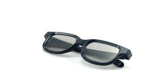 3D glazen witte achtergrond Stock Fotografie