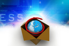 3d globaal bedrijfshandelsconcept Stock Foto
