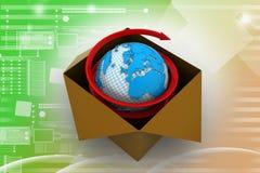 3d globaal bedrijfshandelsconcept Stock Afbeeldingen