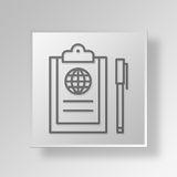 3D global business Button Icon Concept. 3D Symbol Gray Square global business Button Icon Concept Royalty Free Stock Image