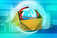 3d global business commerce concept Royalty Free Stock Image