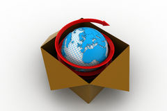 3d global business commerce concept Stock Image