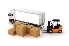 3d global cargo transport concept Royalty Free Stock Photos