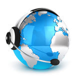 3d global communication concept. White background, 3d image Stock Image