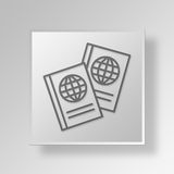 3D global economics icon Business Concept. 3D Symbol Gray Square global economics icon Business Concept Stock Photography