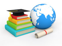 3d global education concept. 3d render of global education concept Royalty Free Stock Image