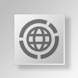 3D Global Market icon Business Concept Stock Photography