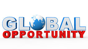 3d global opportunity text Royalty Free Stock Photos