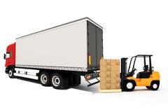 3d globale concept van het ladingsvervoer Stock Foto