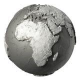 3D globe Afrique illustration libre de droits