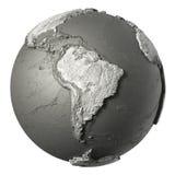 3D globe Amérique du Sud illustration stock