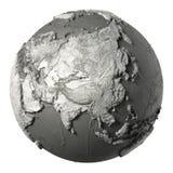 3D globe Asie illustration de vecteur