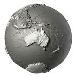 3D Globe Australia Royalty Free Stock Images