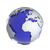 3d Globe of the Earth. 3d render of a globe of the Earth with raised continents Royalty Free Stock Images