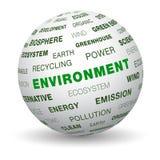3d globe - environnement illustration libre de droits