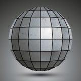 3d globe galvanisé futuriste, abstact grunge illustration libre de droits