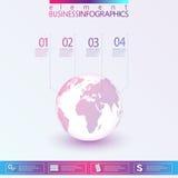 3D globe Infographic illustration stock