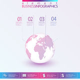 3D Globe Infographic Royalty Free Stock Photo