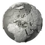 3D globe l'Europe Image libre de droits
