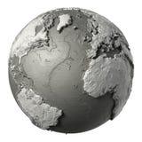 3D globe l'Océan Atlantique Photos libres de droits