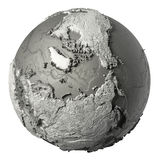 3D Globe North Pole Royalty Free Stock Photos
