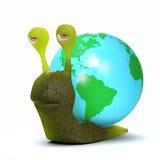 3d Globe snail Stock Images