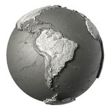 3D Globe South America Stock Images