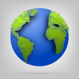 3d globe of the world. Royalty Free Stock Images