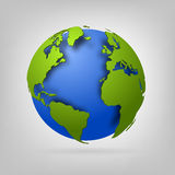 3d globe of the world. EPS10 vector illustration Stock Images