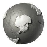 3D globo a Antártica ilustração stock