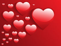 3d glossy hearts Royalty Free Stock Images