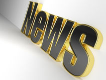 3D glossy News Royalty Free Stock Image