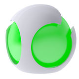 3d glow green abstract sphere Royalty Free Stock Image