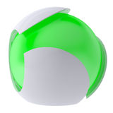 3d glow green abstract sphere Royalty Free Stock Images