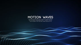 3D glowing abstract digital wave particles. Futuristic vector illustration. HUD element. Technology concept. Abstract. 3D glowing abstract digital wave particles Royalty Free Stock Photo