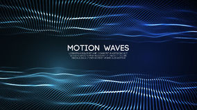 3D glowing abstract digital wave particles. Futuristic vector illustration. HUD element. Technology concept. Abstract vector illustration