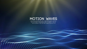 3D glowing abstract digital wave particles. Futuristic vector illustration. HUD element. Technology concept. Abstract. 3D glowing abstract digital wave particles Royalty Free Stock Photography