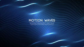 3D glowing abstract digital wave particles. Futuristic vector illustration. HUD element. Technology concept. Abstract. 3D glowing abstract digital wave particles Stock Photo