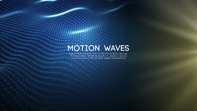 3D glowing abstract digital wave particles. Futuristic vector illustration. HUD element. Technology concept. Abstract. 3D glowing abstract digital wave particles Stock Images