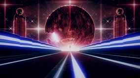 White Stage Smoke Fog Loopable Motion Graphic Background3D Blue Red Sci-Fi Planet Eye Tunnel VJ Loop Background. 3D Glowing Blue Red Sci-Fi Planet Eye Tunnel VJ stock illustration