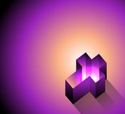 3D Glowing Christian Cross Background Illustration Royalty Free Stock Photography