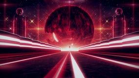 3D Red Sci-Fi Planet Eye Tunnel VJ Loop Background. 3D Glowing Red Sci-Fi Planet Eye Tunnel VJ Loop Background Backdrop vector illustration