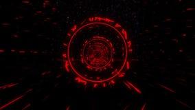 3D Fuchsia Sci-Fi Stargate Tunnel VJ Loop Motion Background
