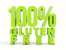 3d Gluten Free Royalty Free Stock Photo