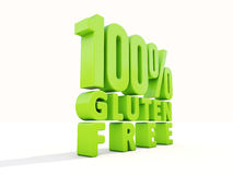 3d Gluten Free Royalty Free Stock Photography