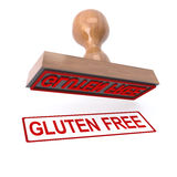 3d Gluten free stamp Stock Photos