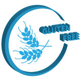 3D gluten free symbol on white background. Sign and symbols. Stock Photography