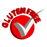 3D gluten free symbols on white background. Sign and symbols. Royalty Free Stock Photography